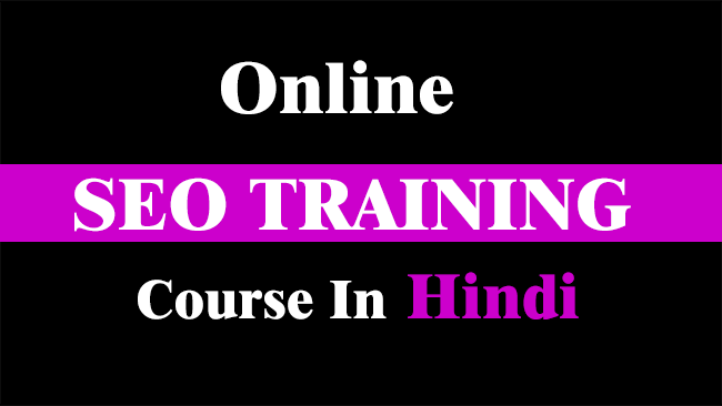 online seo training course in Hindi