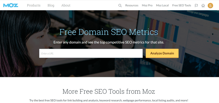 Moz to track keyword ranking in google search